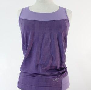 Arcteryx purple workout tank top size small